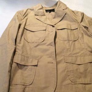 Talbots tan jacket size 4
